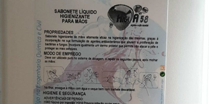 HIGI A58 – Sabonete Líquido em Gel Desinfetante